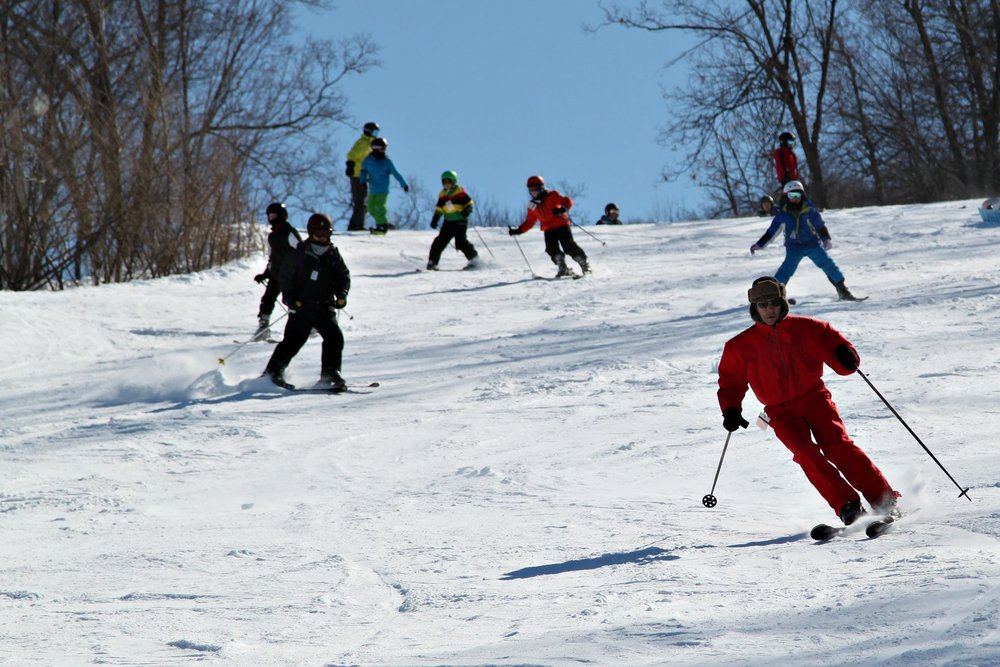 Lots of spring turns ahead for Mountain Creek skiers. - ©Mountain Creek