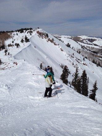 Awesome spring skiing at the Canyons!