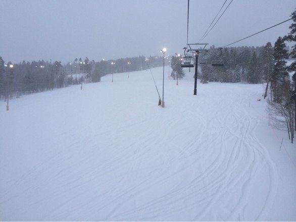 Terrific conditions for night skiing last night.