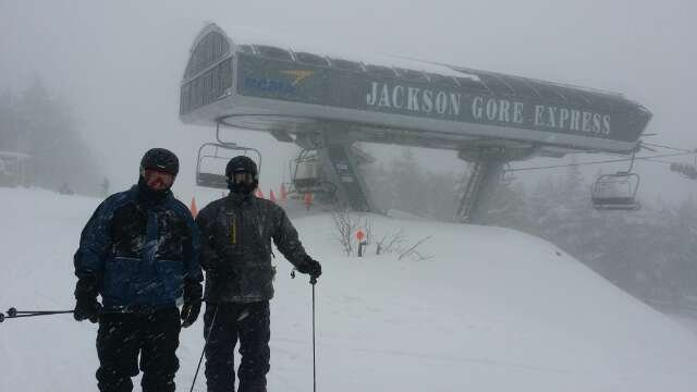 yesterday at Jackson Gore.  great pow ski day.