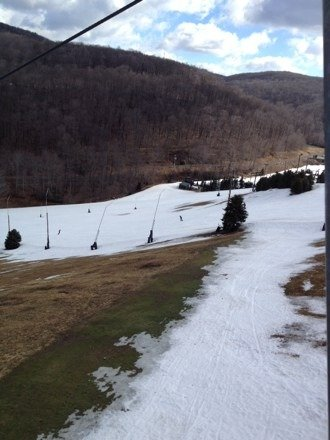 Great spring conditions!  Fast corn snow.  Temps in upper 30s sunny.  They groomed last night too!