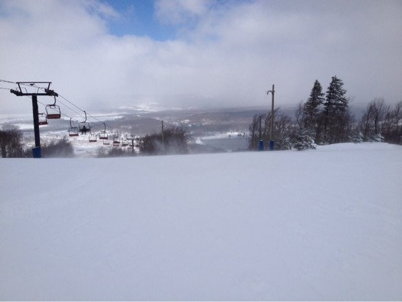 GREAT conditions, good powder for so late in the year, almost perfect conditions today.