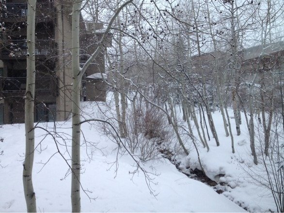 It will never stop snowing on snowmass mountain