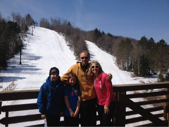 This family spent five holidays skiing at Ski Brule this season  Thanksgiving Christmas  New Year's Eve  St Patricks day  And Easter   I find it really neat to be able to say that!  Ski Brule anticipates opening for next Saturday and Sunday, weather permitting. Call before you travel to get the latest snow report and opening status