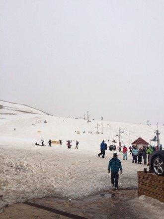 Excelente nevada en las leñas.