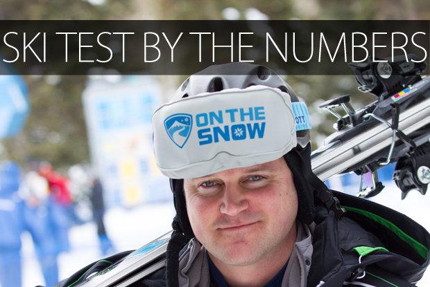Ski Test stats - ©Cody Downard Photography