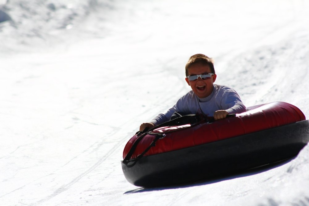 Kids will have a blast on China Peak's tubing hill.