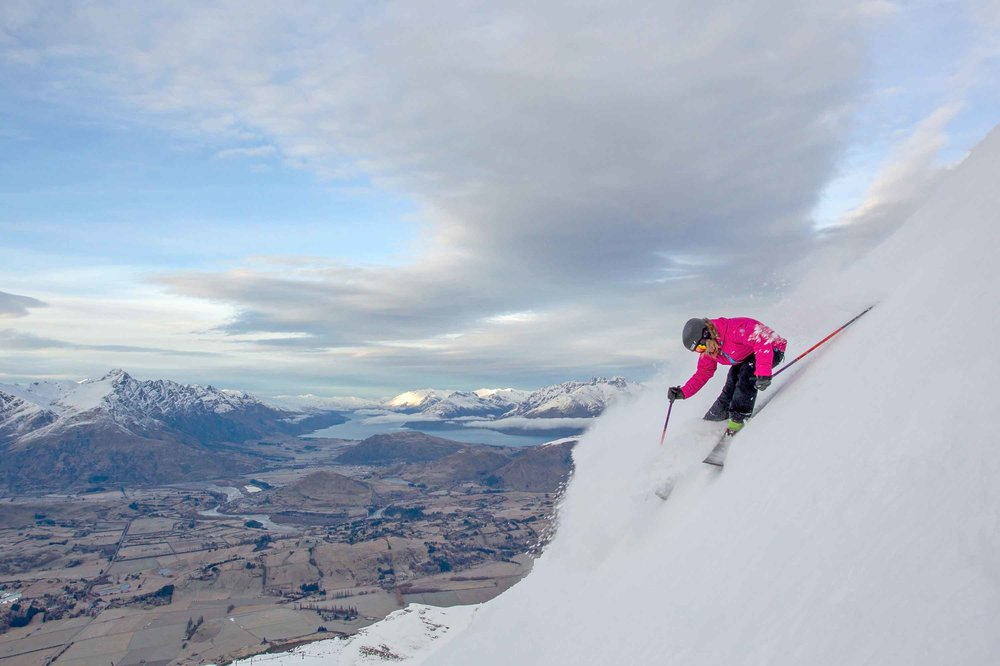 Steep Powder at Coronet Peak