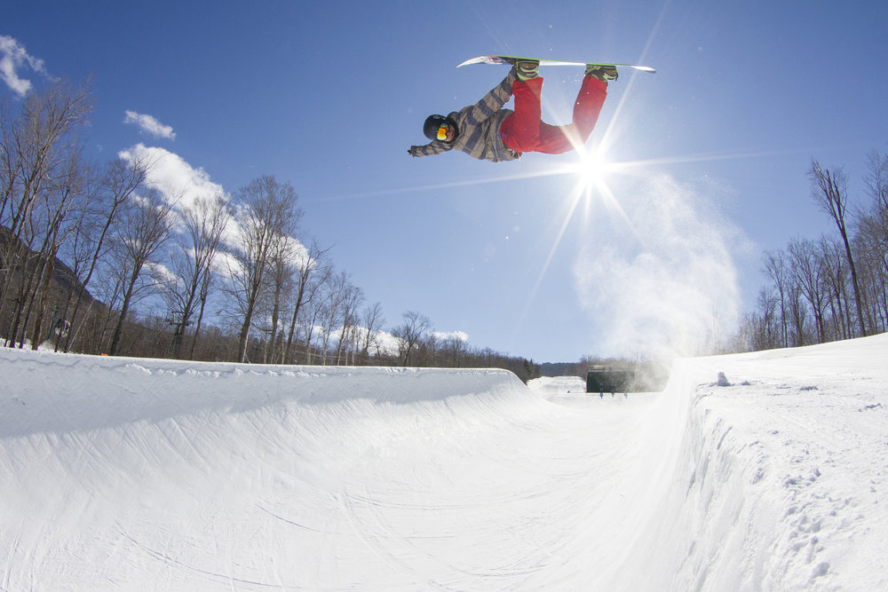 Loon Mountain Resort is home to the only superpipe in New Hampshire. Rider: Seth Learned.