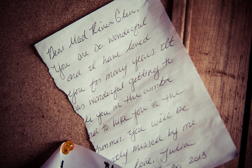 Mad River Glen even gets love letters. - ©Liam Doran
