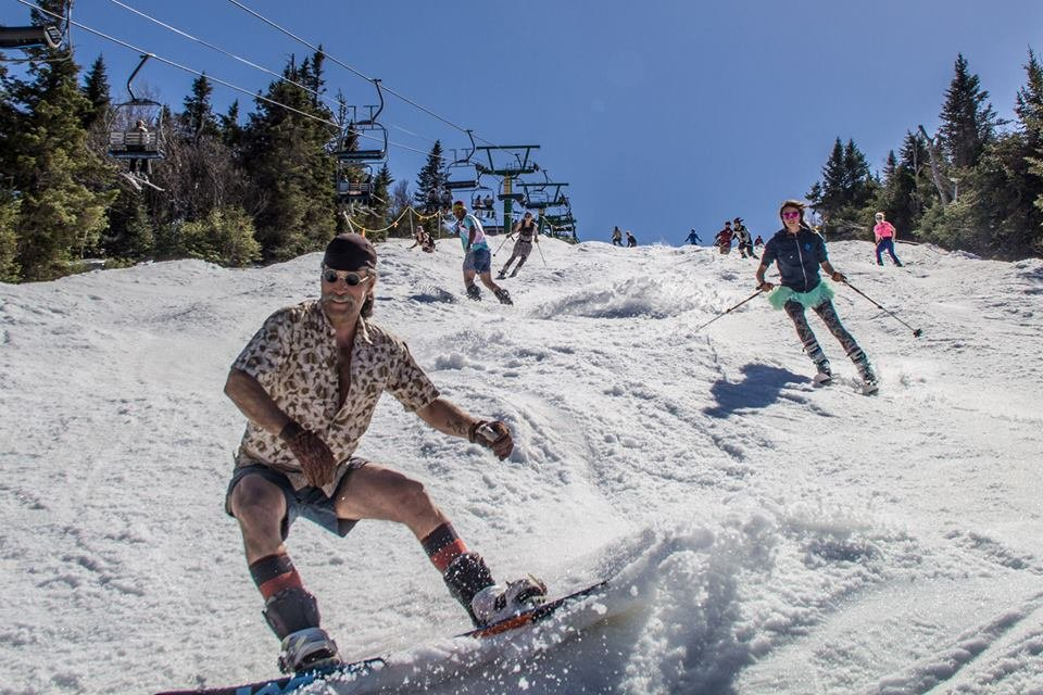 Nothing quite like making turns in May at jay Peak.
