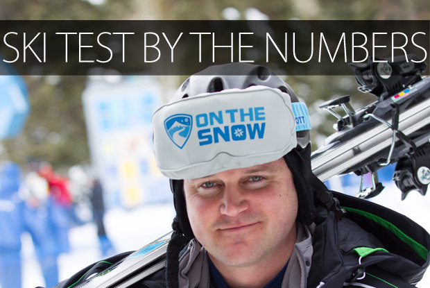 Ski Test stats - ©Cody Downard Photography