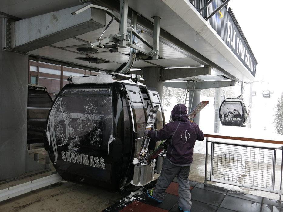 Into the ski lift in Snowmass - ©Micaela Romani