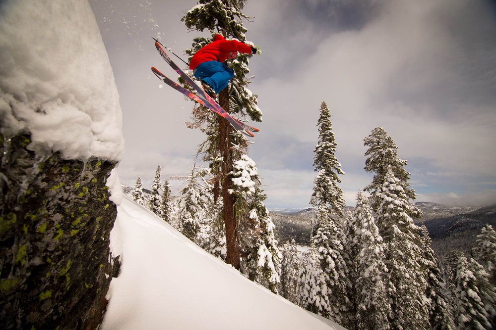 Jumping snow pillows at Squaw Valley. - ©Jeff Engerbretson