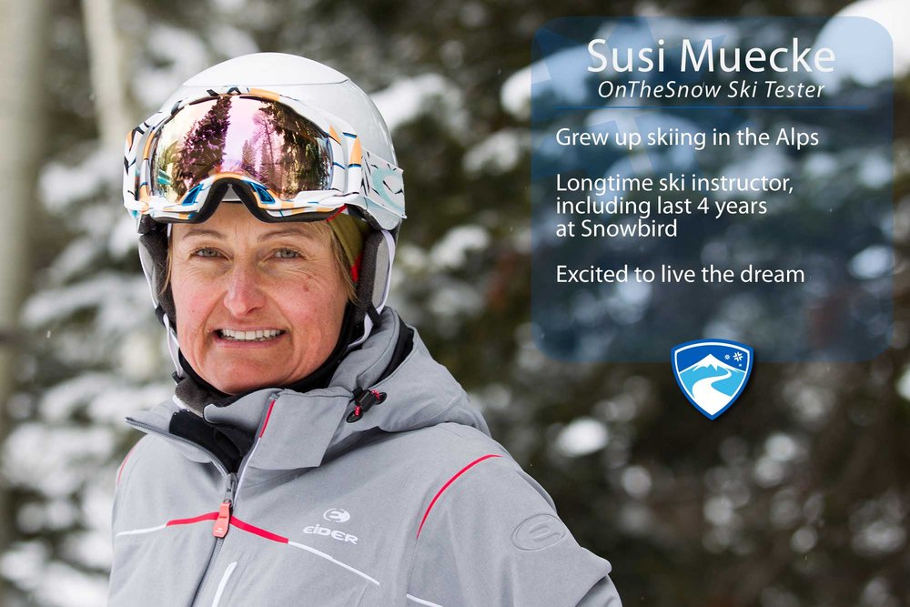 "Susi Muecke, 49. Your ultimate ski day would need to include what? ""Lots of Utah powder, sunshine, wonderful people and a great après ski beverage."" - ©Cody Downard Photography"