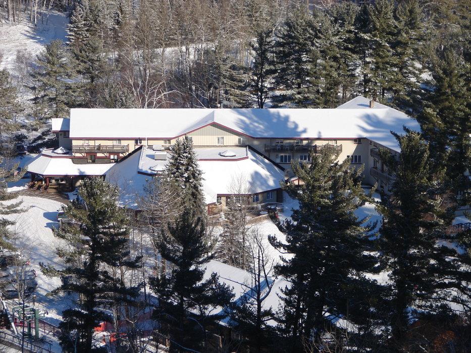 The lodge at Pine Mountain, MI.
