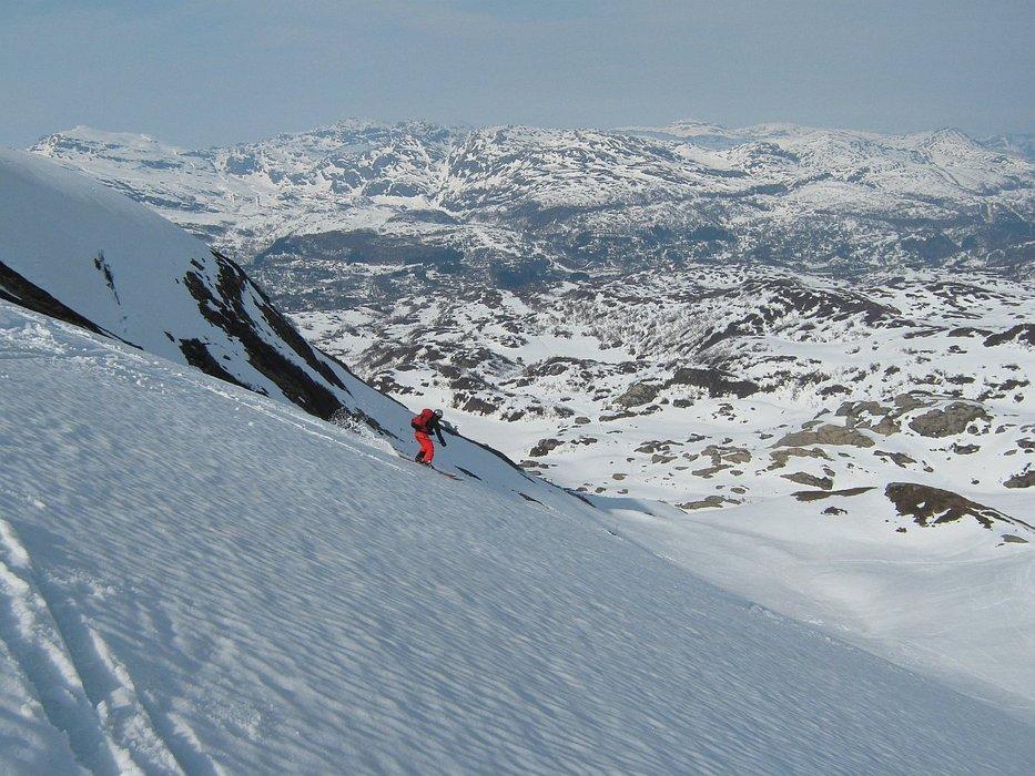 på vei ned fra Gråskorvenuten - ©Margaret @ Skiinfo Lounge