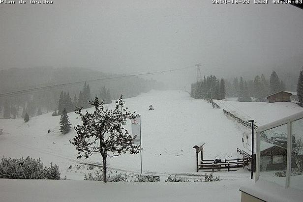 Neve fresca a Val Gardena, 23 Ottobre 2014