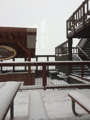 Snowing at keystone