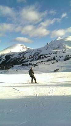 Strawberry and Angel were open but lines were manageable.  Decent early season conditions,  just watch for the odd rock.
