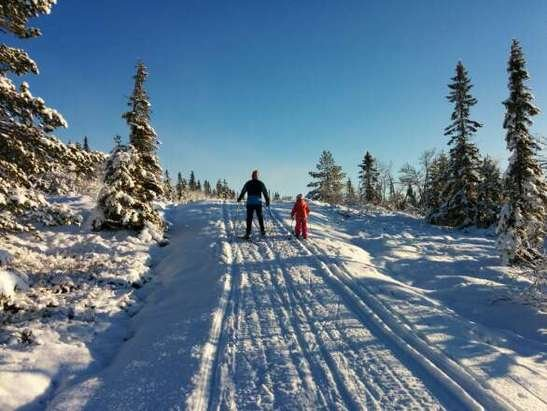It's now possible to go cross-country/Nordic from Skistua to Leppejuvet.