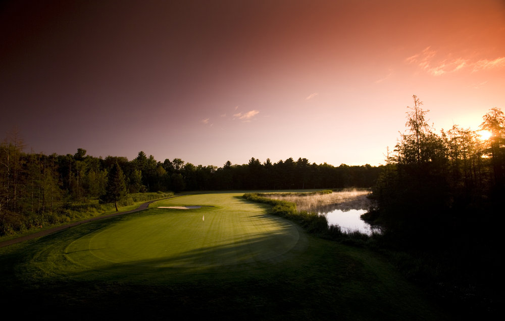 Sunset at golf course, Boyne Highlands Resort