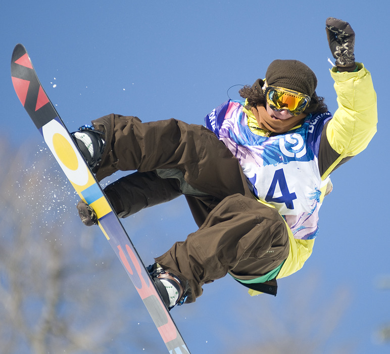 Luke Mitriani placed third in Men's Halfpipe.