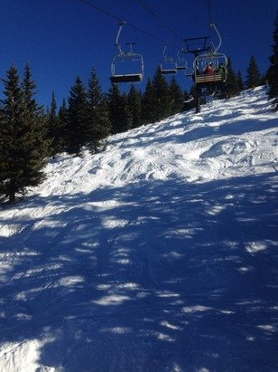 Opened the top lifts, deep powder in the trees and on the chutes, great conditions for this time of year, not crowded