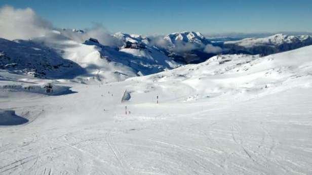 good snow just below the glacier!