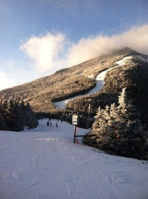 Gondola is open! A little icy on top & soft toward the bottom. Not real crowded. Everyone stay home tomorrow.  - ©Cir14