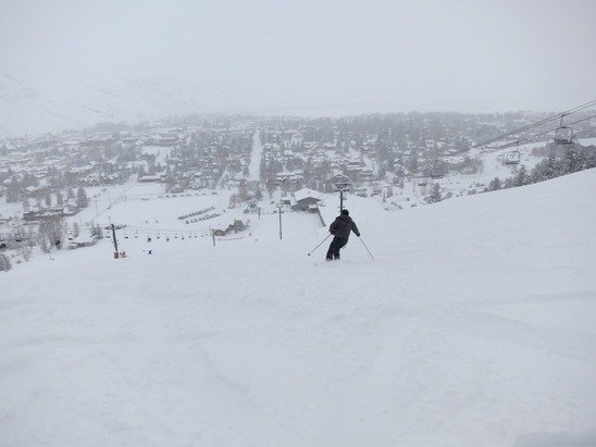 Exceptional skiing in Christmas Day with no wind and no lines. We love our home town mountain!!!