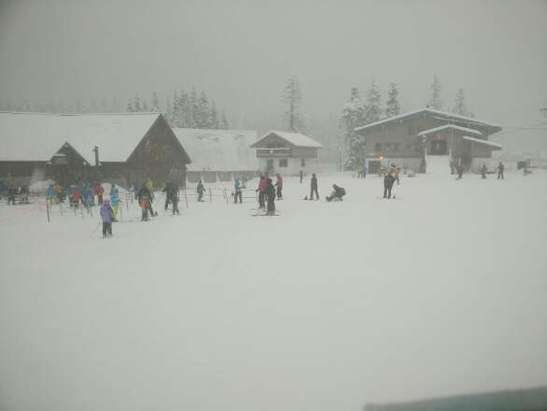 Went yesterday and it was snowing the entire time! Powder all day!