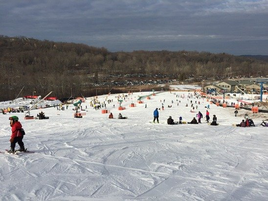 Pretty good snow. Not crowded at all