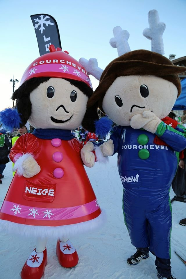 Snow mascots are out in Courchevel Jan. 14, 2015 - ©Courchevel Officiel