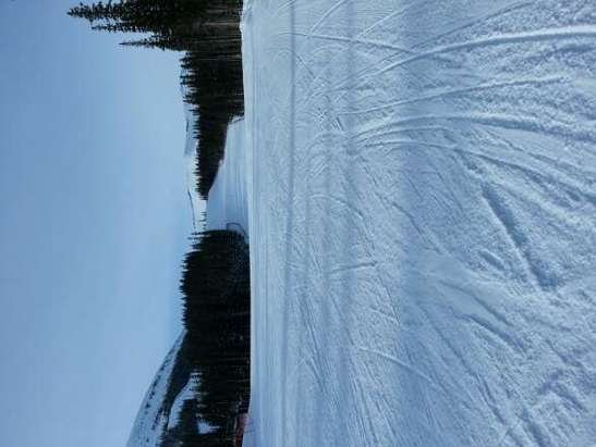 Conditions were better than expected. Main runs are groomed but slick in spots. Go mid week if you can. no lines.