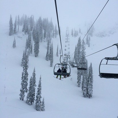 Absolutely beautiful! Lots of heavy wet pow. Just a good time for all