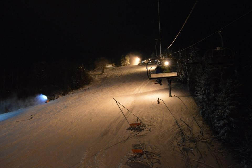 Night skiing at Big Raca - Snow Paradise Veľká Rača Oščadnica