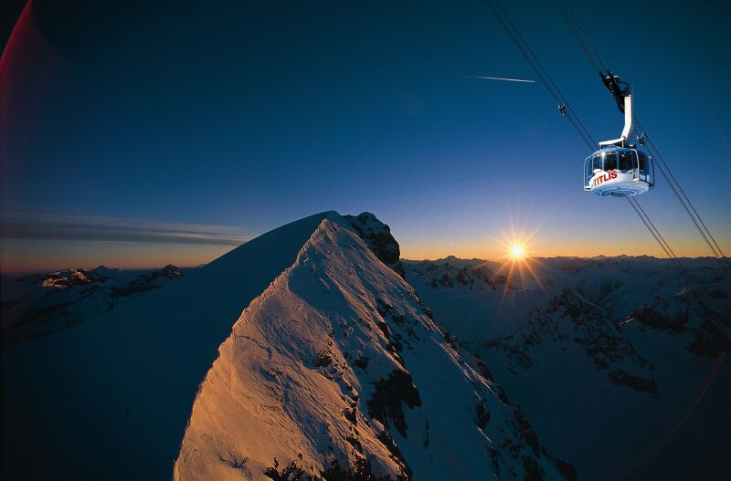 Winter $1$7$ Panorama Titlis Rotair Mountain Sunrise Sun Panorama Titlis Rotair
