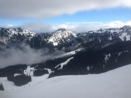 Was there Saturday 1/24/15.  Snow was bad at the base but was ok at higher elevations.  Still fun to ski