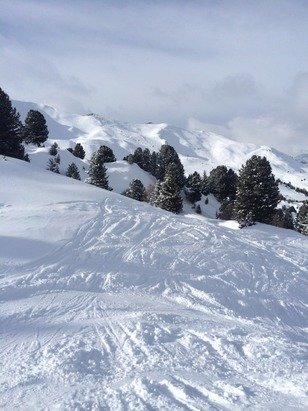 A little bit if ice knocking about on the busy runs, but on the whole excellent conditions. Off piste has been fantastic, and the resort had loads of it - even for intermediates!