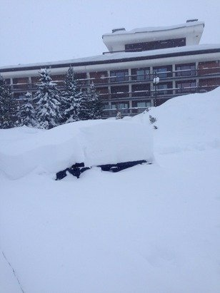 Never seen so much snow. We just need the lifts to open!!!!