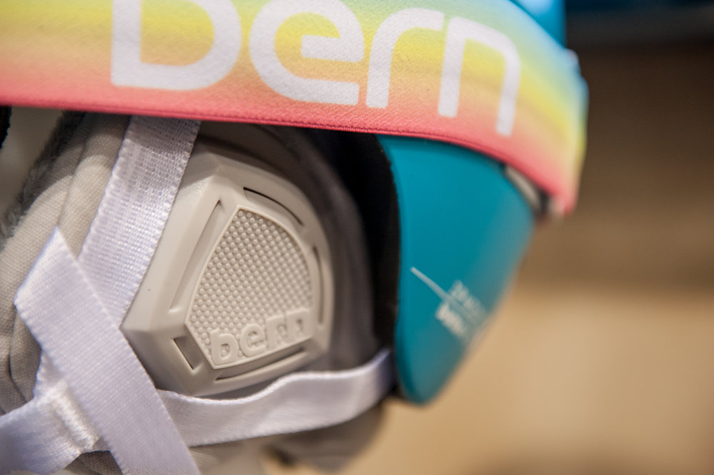 Bern's new women's ski-specific helmet, the Hepburn. - ©Ashleigh Miller Photography