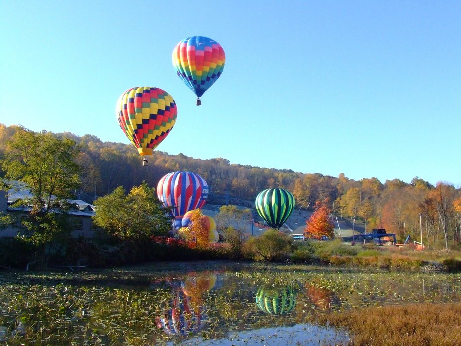 Hot air balloons at Shawnee Mountain, PA