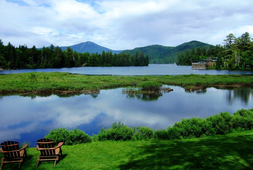 View of Lake Placid and Whiteface Mountain from the Placid Bay Inn.