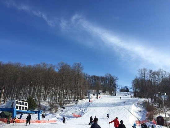 Perfect day to ski .. No arctic freeze today...