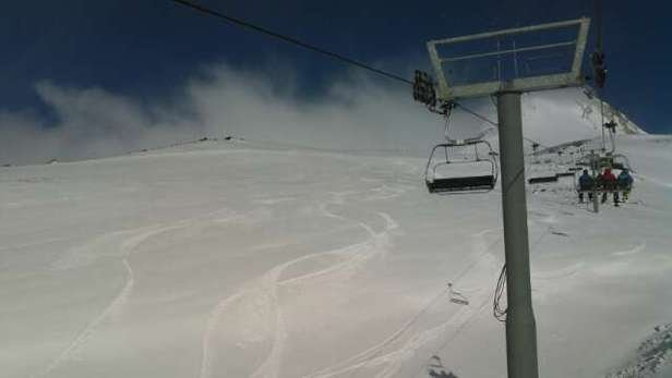 awesome day at meadows! sunshine intermixed with snow and clouds....4