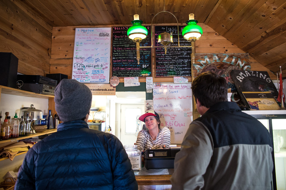 Breakfast at Amazing Grace is a great way to start your ski day. - ©Liam Doran