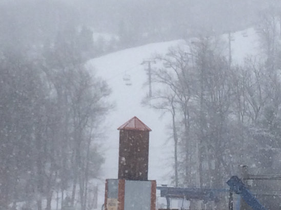 Camelback Mountain Resort - March 31st at 2:00!  Snowing fast and heavy and the mountain empty!  Fabulous spring surprise expecting up to 4 inches!!!