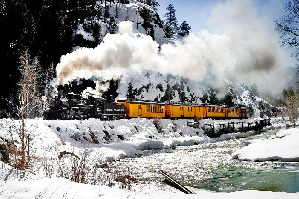A scenic train ride in Durango.