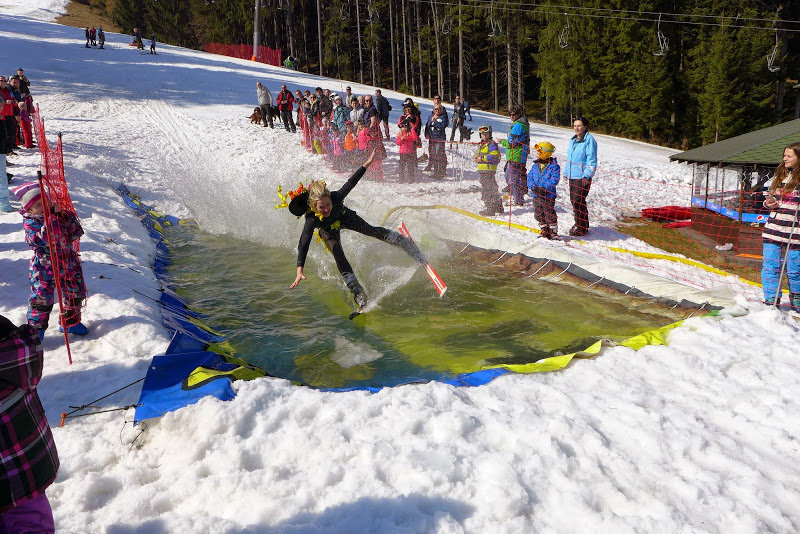 Waterslide happening in Ski Park Grun (CZ